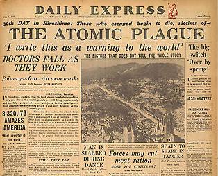 6 août et 9 août 1945 :