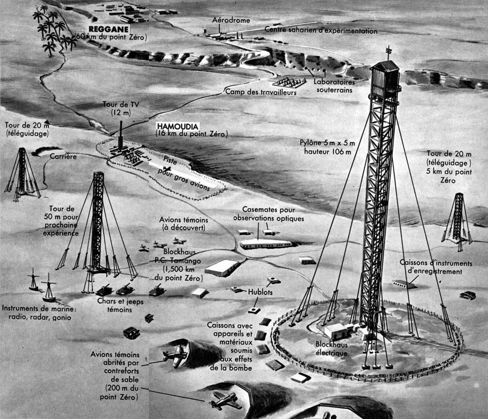 Résultats de recherche d'images pour «La carte de l'armée française décrivant les retombées radioactives de l'essai nucléaire frança»